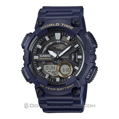 Top 5 chiếc đồng hồ điện tử Casio nam giá chưa đến 2 triệu đồng - Casio AEQ-110W-2AVDF