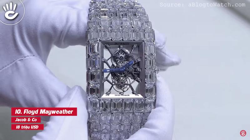"""Đồng hồ """"tỷ phú"""" Jacob & Co củaFloyd Mayweather"""