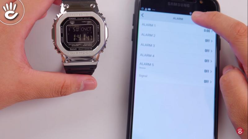 Kết nối smartphone với G-Shock GMW-B5000 thông qua Bluetooth - GMW-B5000-1DR