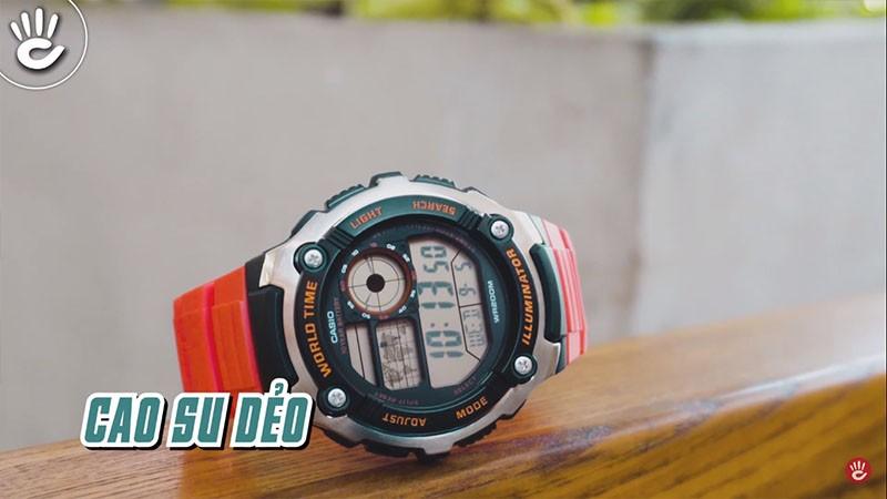 Với thiết kế theo cơ chế 3 lớp hiện đại giúp chiếc đồng hồ chống sốc hiệu quả - AE-2100W-4AVDF