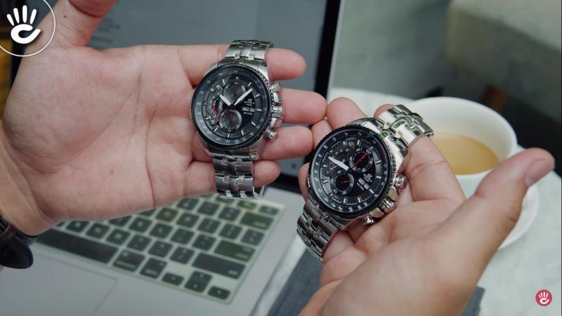 Đồng hồ giả có logo mờ nhạt, không sắc xảo