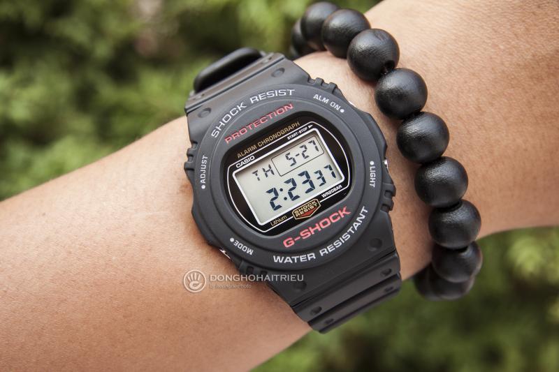 Mặt trước được thiết kế nhỏ gọn, phù hợp với các bạn tay nhỏ - G-Shock DW-5750E