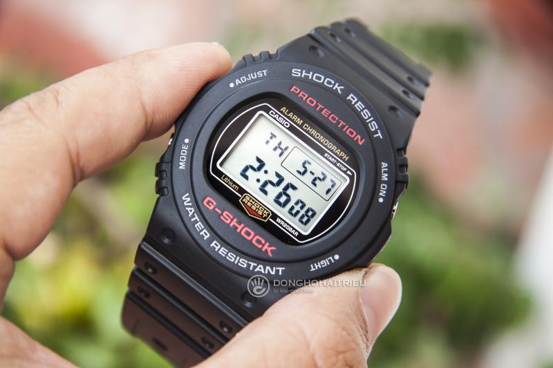 Với mặt điện tử tròn, cơ bản nhưng vẫn mang tính mạnh mẽ, nam tính - G-Shock DW-5750E