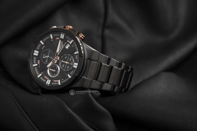 Phần vai dây của chiếc đồng hồ độc đáo, trông cứng cáp, mạnh mẽ - EFR-544BK-1A9VUDF