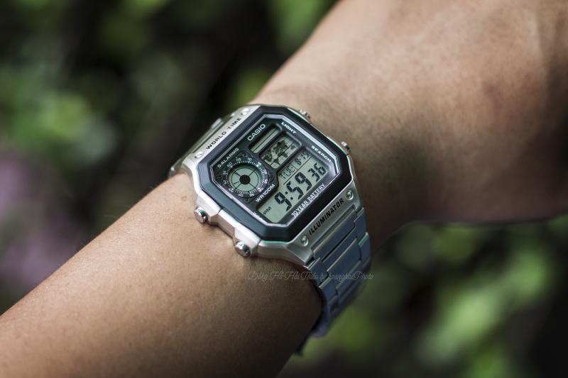 Thiết kế đồng hồ cực đẹp và nhẹ nhàng ngay cả khi làm việc văn phòng - AE-1200WHD-1AVDF