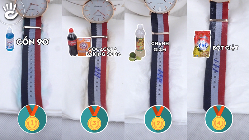 cách làm sạch dây vải nato đồng hồ DW