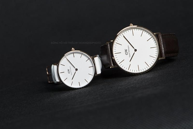 Cách chọn size mặt đồng hồ DW phù hợp với cổ tay nam và nữ