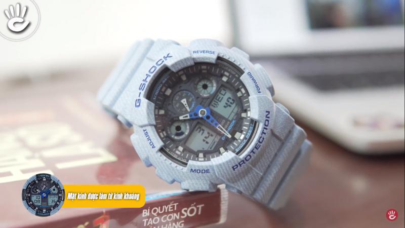Mẫu G-Shock GA-100DE-2ADR với vẻ ngoài cá tính thích hợp cho những bạn trẻ năng động - GA-100DE-2ADR