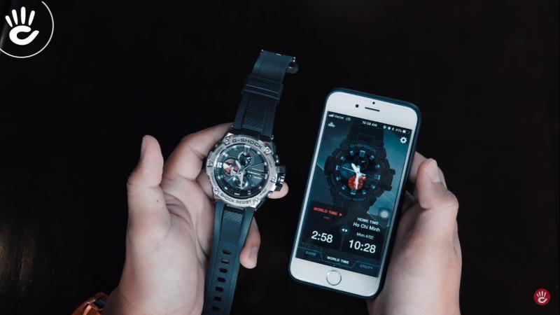 Chỉnh sửa giờ hiện hành và giờ thế giới - G-SHOCK GST-B100-1ADR
