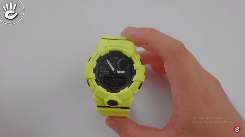 Chiếc đồng hồG-Shock GBA-800-9A với màu vàng Neon mang lại cảm giác tươi mới