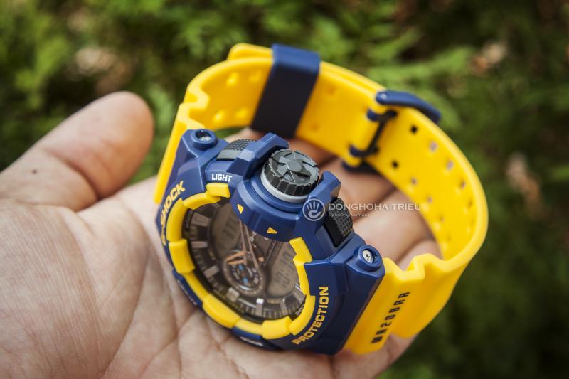 Đồng hồ G-Shock GA-400-9BDR có vỏ và dây đeo bằng nhựa cao cấp - GA-400-9BDR