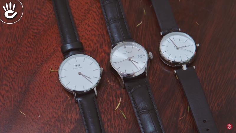 Đồng hồ nữ dây da mặt trơn cho các bạn nữ yêu thích sự đơn giản tinh tế