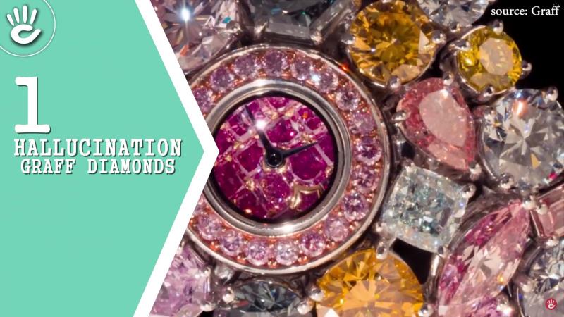 Chiếc đồng hồ Hallucination củaGraff Diamonds có giá 56.582.460 USD