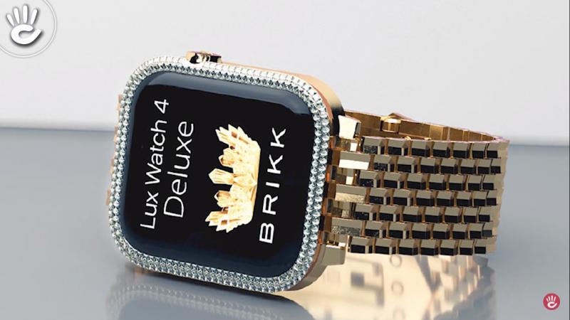 Apple Watch 4 được đínhvàng và kim cương bắt mắt tạo sự sang chảnh chinh phục các quý ông