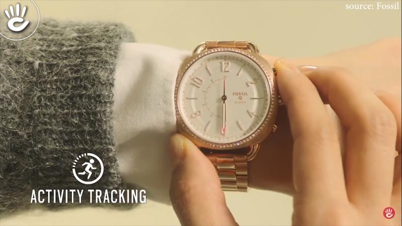 Một chiếc đồng hồ thông minh của thương hiệu Fossil