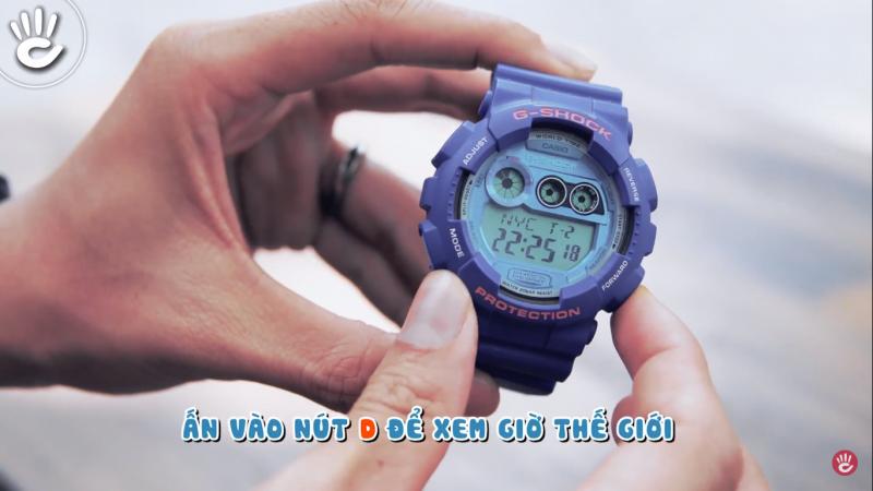 Hướng dẫn sử dụng chức năng Multi Time trên G-Shock GD-120TS-2DR