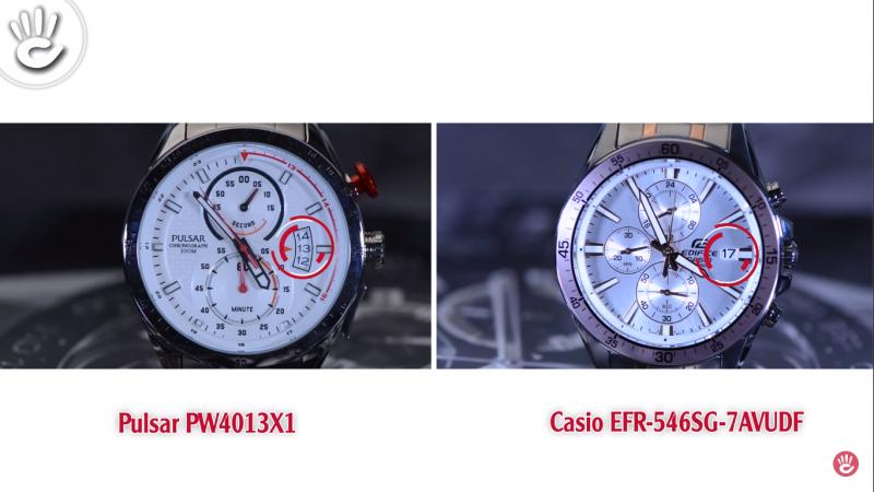 Đồng hồ Casio EFR-546SG-7AVUDF và đồng hồ PULSAR PW4013X1
