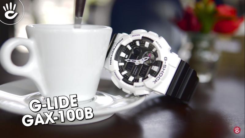 Đồng hồ nam G-Shock GAX-100B-7ADR thiết kế thể thao vỏ máy bằng nhựa chống nước  với tông màu trắng năng động