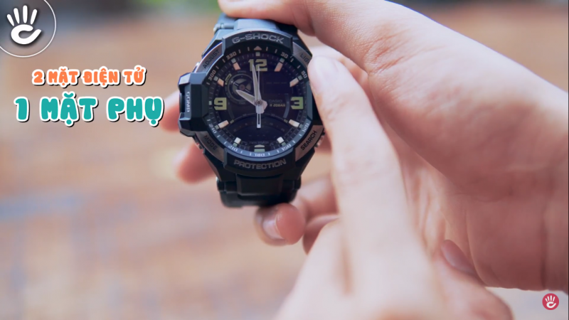 Hướng Dẫn Đọc Mặt Số Đồng Hồ G-Shock Gravitymaster GA-1000-1BDR