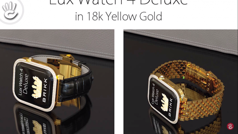 Phiên bản Lux Watch 4 Deluxe cao cấpđính thêm 2 viền kim cương trên mặt đồng hồ