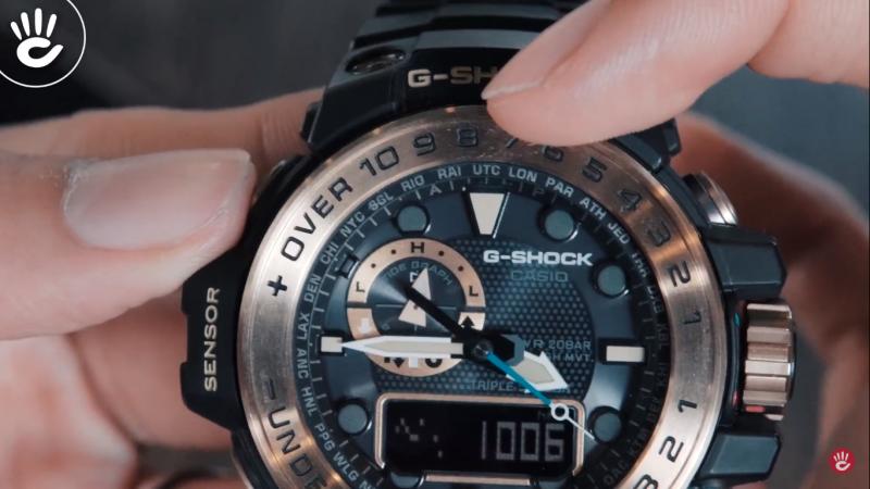 Hướng dẫn đọc mặt số đồng hồ G-Shock Gulfmaster GWN-1000GB-1ADR