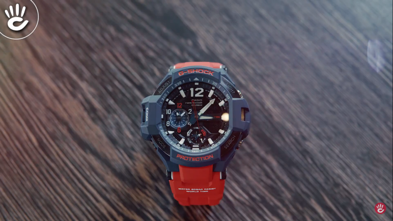 Đồng hồ G-Shock GA-1100-2ADR với thiết kế lấy cảm hứng từ hàng không, có chức năng Giờ Thế Giới giúp cho phi công biết múi giờ
