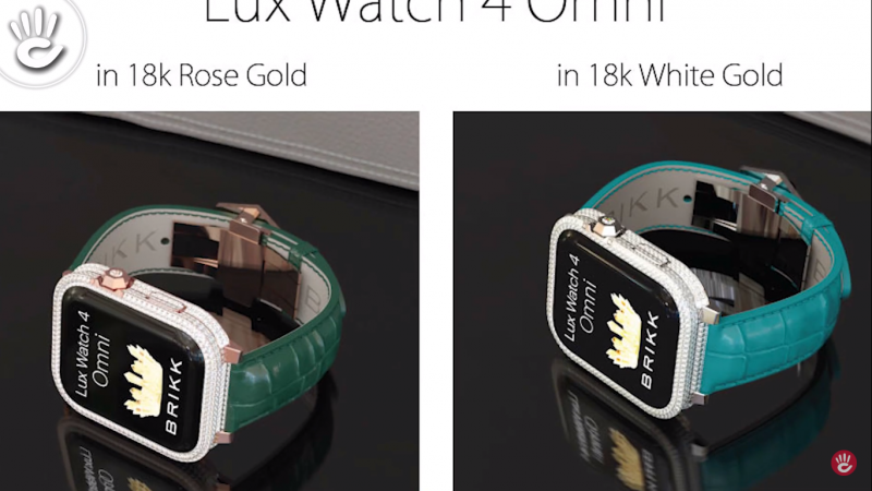 Phiên bản Lux Watch 4 Omni là dòng cao cấp nhất với kim cương được phủ khắp các chi tiết mặt đồng hồ