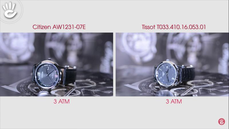 Đồng Hồ Citizen AW1231-07E Và Tissot T033.410.16.053.01 Giá 5 Triệu