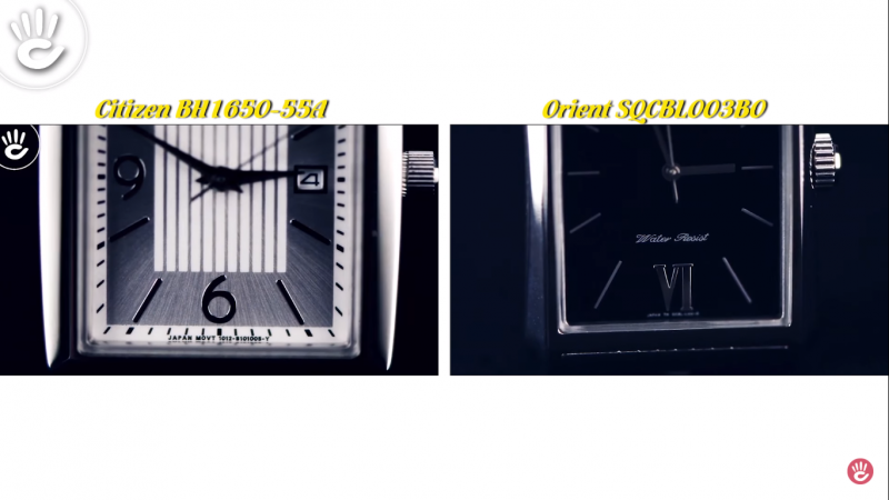 Đồng hồ mặt vuông Citizen BH1650-55A vs Orient SQCBL003B0 2,5 triệu