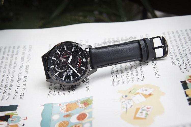 Casio EFV-530BL-1AVUDF Chronograph Kết Hợp Hoàn Hảo Với Dây Da Hình 2