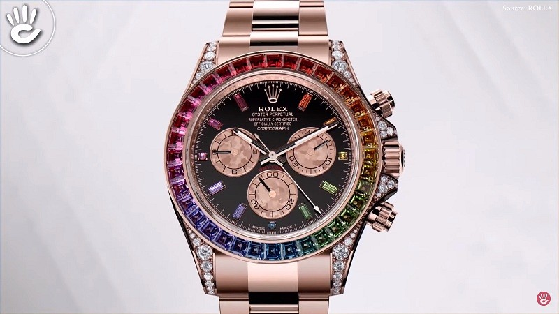 Rolex Daytona Rainbow Rose Gold có giá khoảng 7 tỉ VND