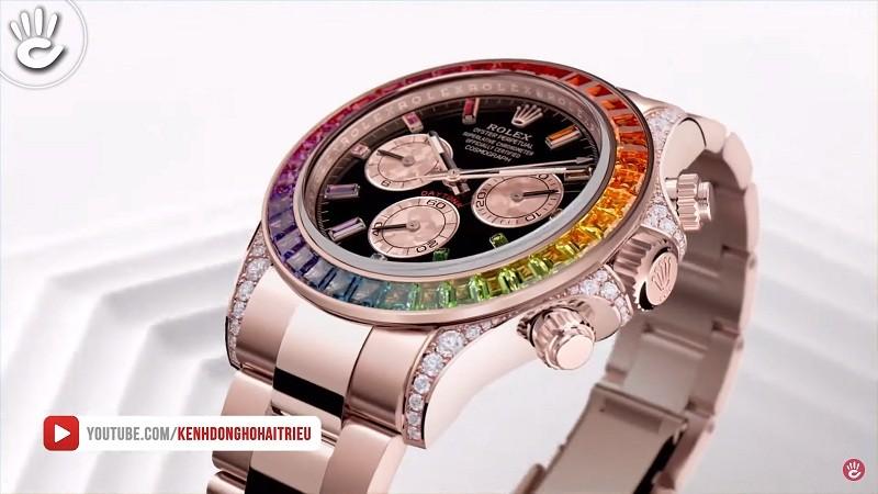 Đối với mình thì Rolex Daytona Rainbow Rose Gold là chiếc Rolex đẹp nhất mà mình từng nhìn thấy