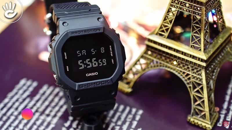 """Bạn muốn có một chiếc đồng hồ thể thao mạnh mẽ nhưng lại không thích """"màu mè""""  thì G-ShockDW-5600BBN-1DR là một lựa chọn tuyệt vời đó"""
