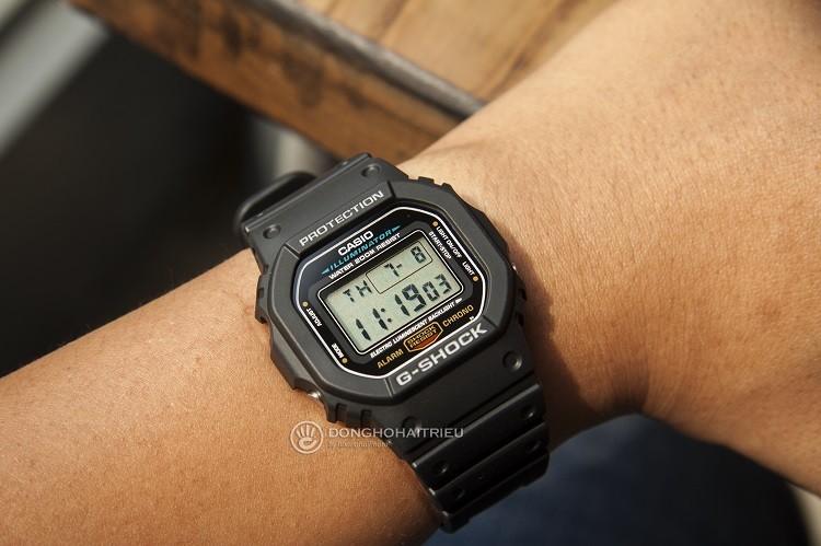 Đồng Hồ G-Shock DW-5600E-1VDF Tích Hợp Khả Năng Chống Shock hình 3