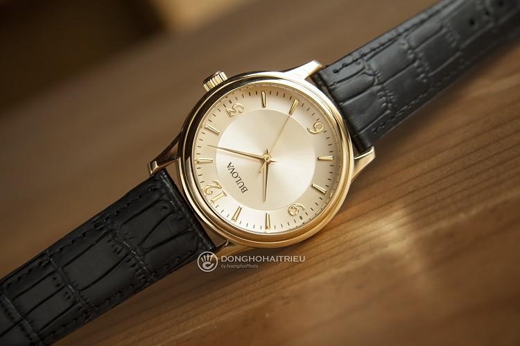Đồng hồ BULOVA 97A70 Sang Trọng Với Mặt Số Phủ Vàng Hình 1