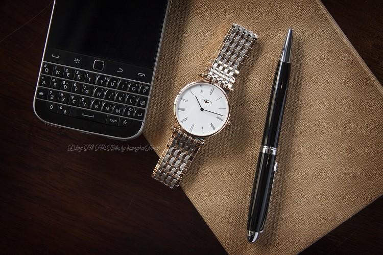 Longines L4.755.1.91.7 đồng hồ Thụy Sỹ sở hữu dây demi, kính Sapphire Hình 1