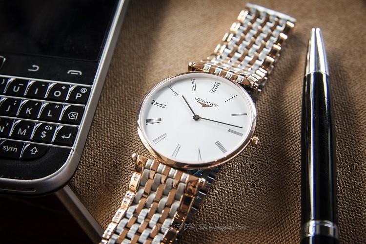 Longines L4.755.1.91.7 đồng hồ Thụy Sỹ sở hữu dây demi, kính Sapphire Hình 4