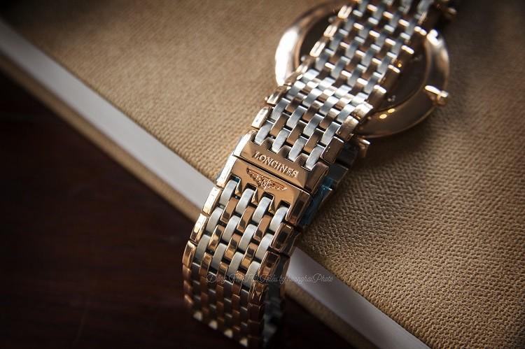 Longines L4.755.1.91.7 đồng hồ Thụy Sỹ sở hữu dây demi, kính Sapphire Hình 2