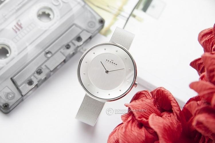 Skagen SKW2140 Đồng hồ nữ đính hạt đơn giản và cực kỳ sang trọng hình 1