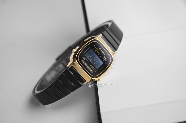 Đồng hồ Casio LA670WEGB-1BDF thanh mãnh dành cho phái nữ hình 1