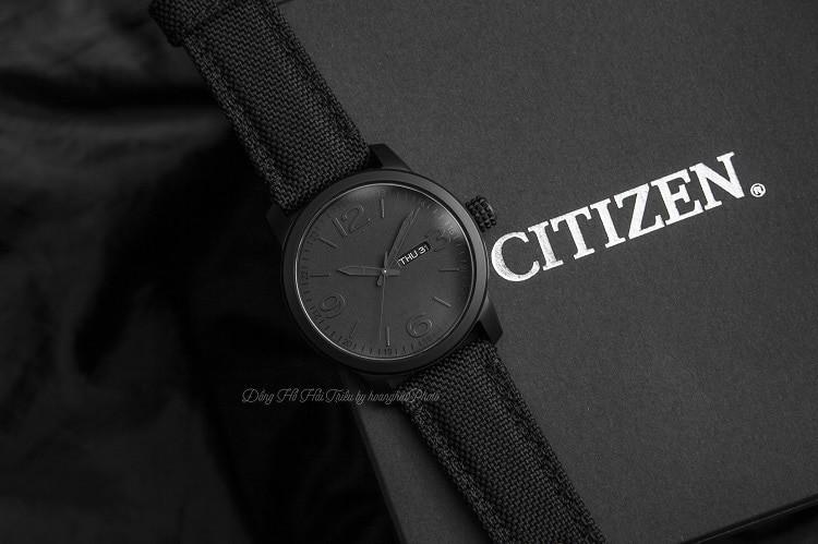 Citizen BM8475-00F Độc đáo với thiết kế mặt số đen mờ nam tính hình 1