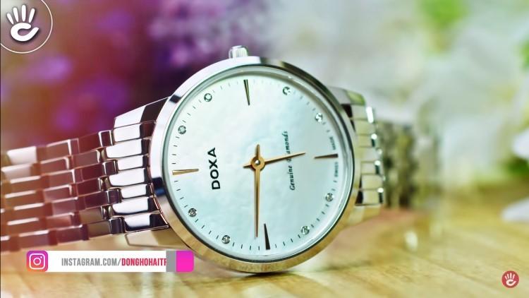 Review đồng hồ nữ Doxa D158SWH | Bộ sưu tập mặt xà cừ siêu đẹp-Hình2