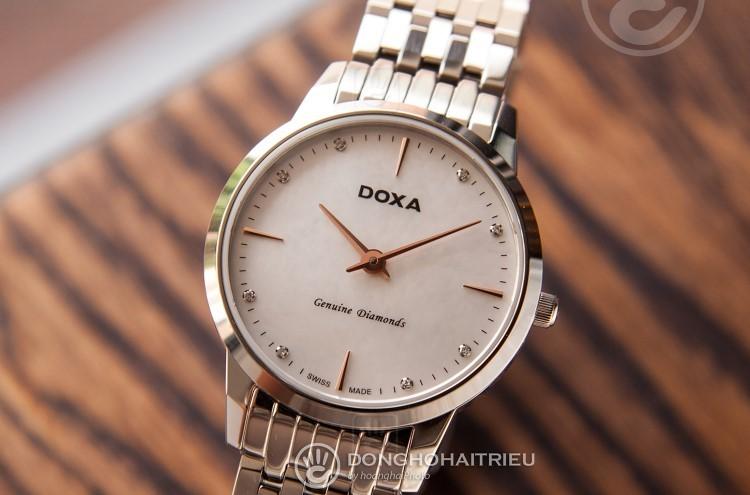 Review đồng hồ nữ Doxa D158SWH | Bộ sưu tập mặt xà cừ siêu đẹp-hình4