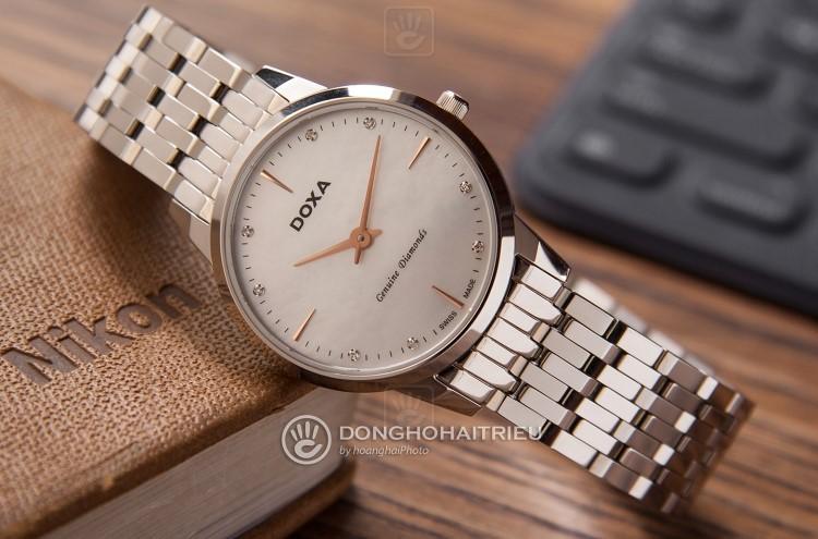 Review đồng hồ nữ Doxa D158SWH | Bộ sưu tập mặt xà cừ siêu đẹp-Hình7