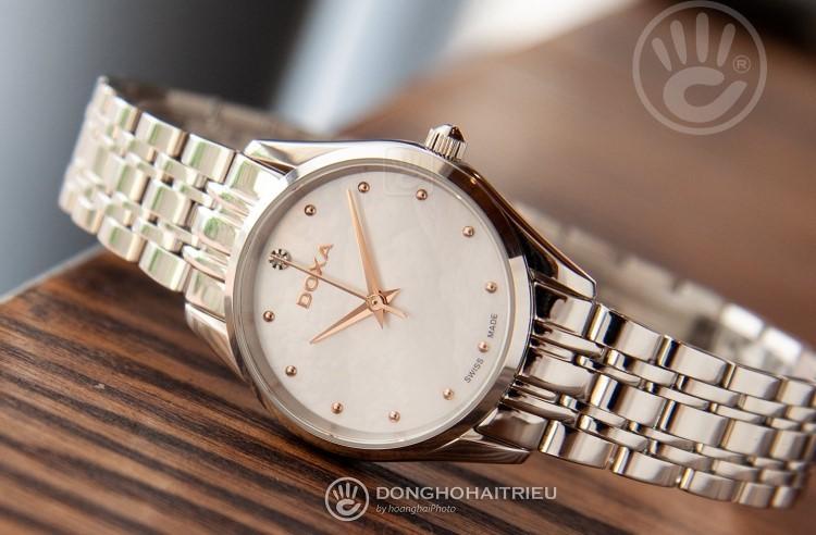 Review đồng hồ nữ Doxa D204SWH | Bộ sưu tập đồng hồ mặt xà cừ-Hình3