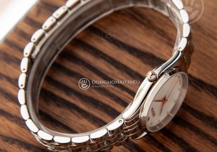 Review đồng hồ nữ Doxa D204SWH | Bộ sưu tập đồng hồ mặt xà cừ-hình 4