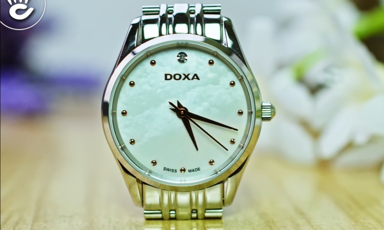 Review đồng hồ nữ Doxa D204SWH | Bộ sưu tập đồng hồ mặt xà cừ-Hình 1