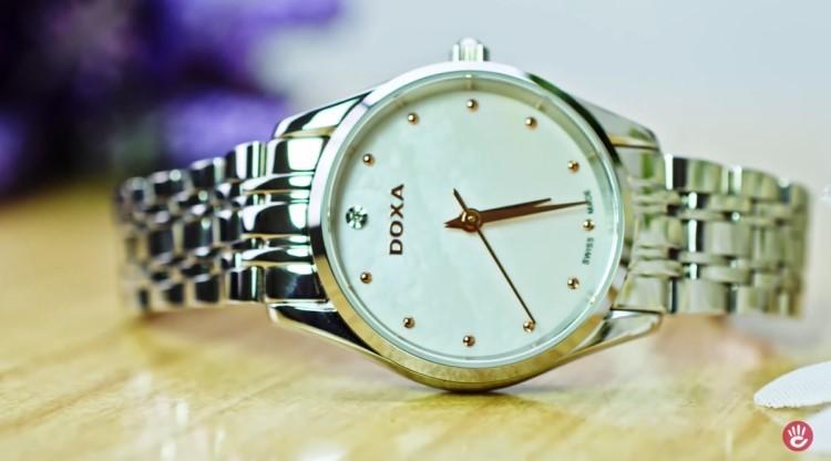 Review đồng hồ nữ Doxa D204SWH | Bộ sưu tập đồng hồ mặt xà cừ - hình 2