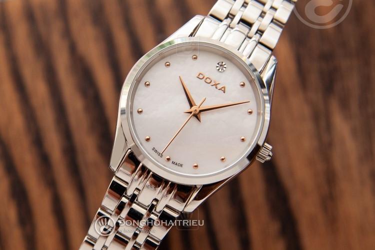 Review đồng hồ nữ Doxa D204SWH | Bộ sưu tập đồng hồ mặt xà cừ-hình 6