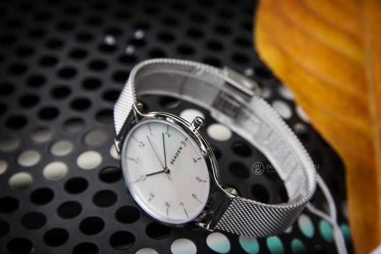 Đồng hồ Skagen SKW2701 mặt số khảm xà cừ độc đáo hình 4